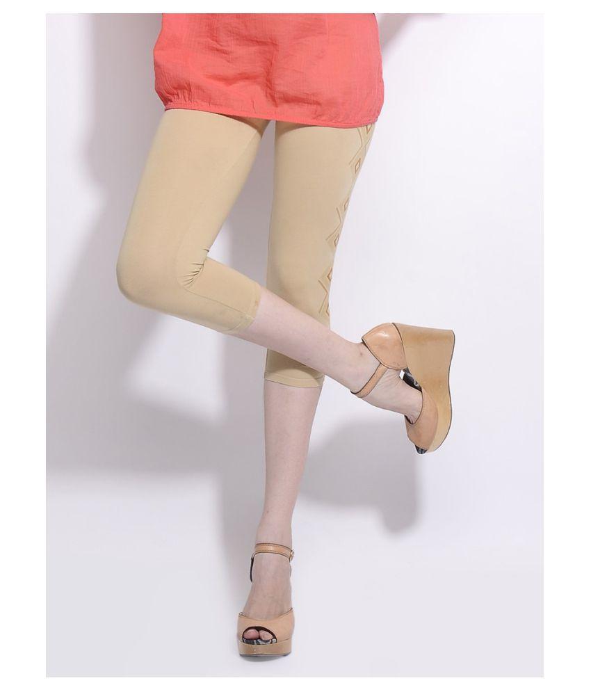 Femmora Cotton Lycra Tights - Beige