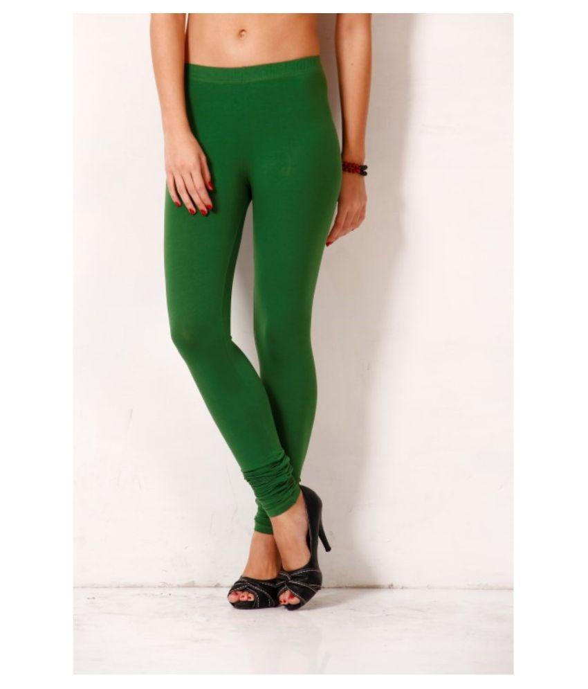 Femmora Cotton Lycra Tights - Green
