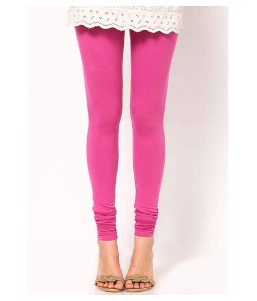 Femmora Cotton Lycra Tights - Pink