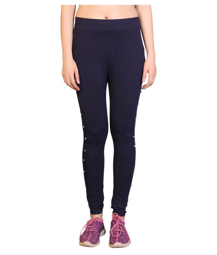 Avenew Fashions Lycra Jeggings - Navy