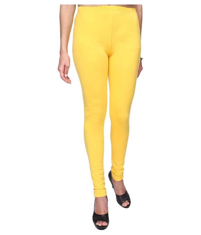 SK Creation Cotton Lycra Jeggings - Yellow