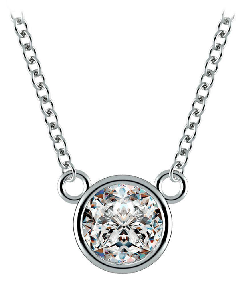 Silver 8.25 Ratti Zircon  Pendant by KUNDLI GEMS