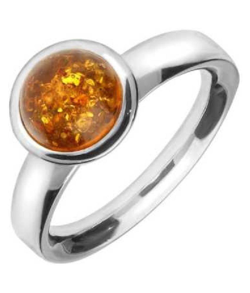 8.5 carat Natural Silver Amber RING(Anguthi)by  Ratan Bazaar\n
