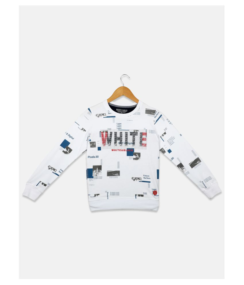 Monte Carlo White Coloured Boys Sweatshirt