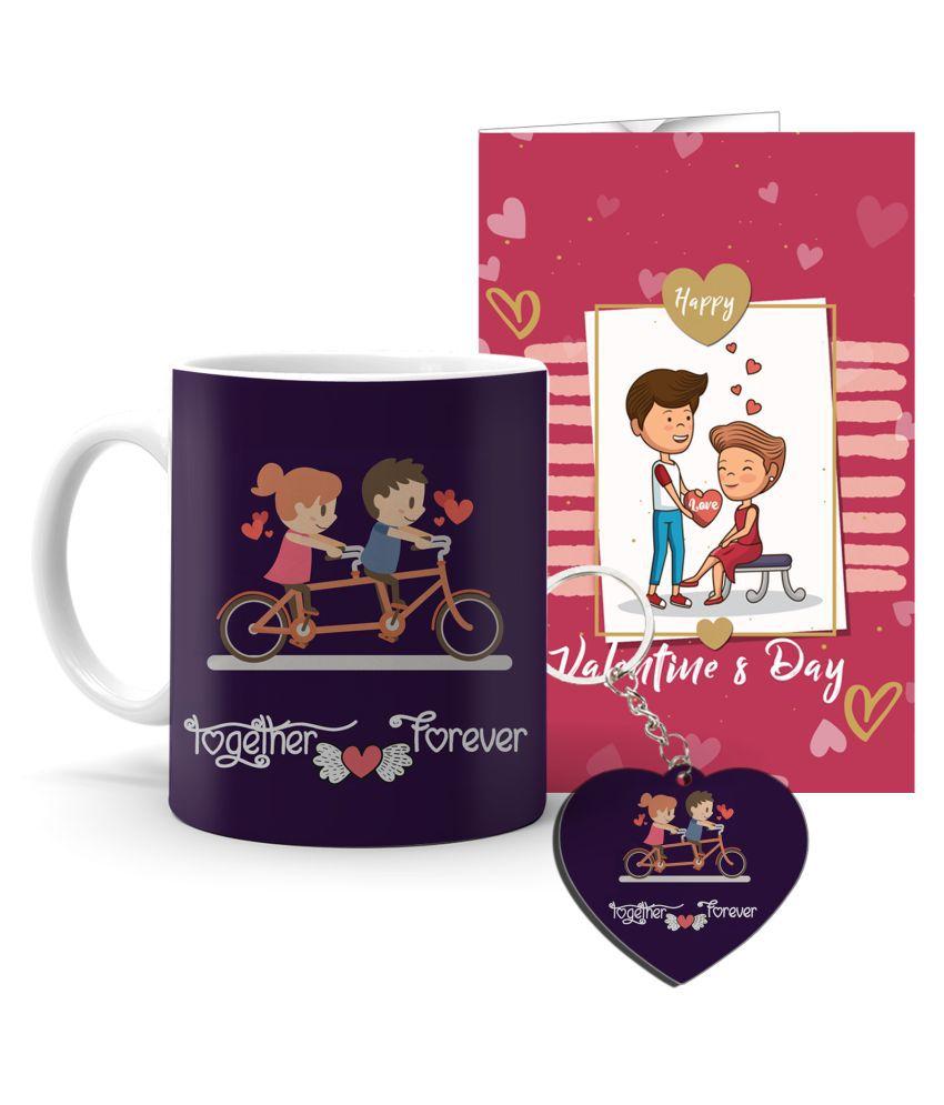 Festa Ceramic Valentine Hamper White - Pack of 3