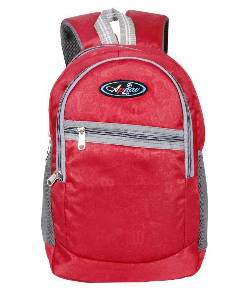 Apnav Red Polyester College Bag