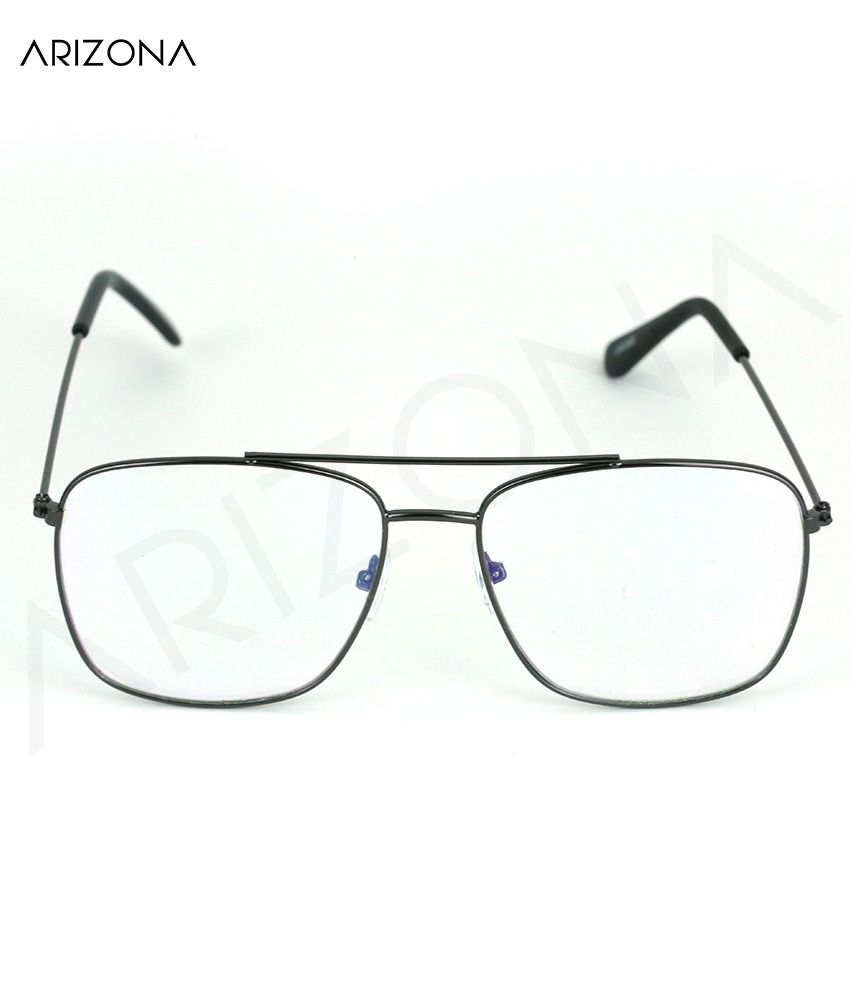Arizona Sunglasses - Clear Rectangle Sunglasses ( AROT070 )