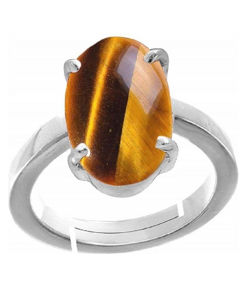 Natural Lab Certified 5 carat 100% Original Tiger's Eye RING(Anguthi)for unisex by Ratan Bazaar\n