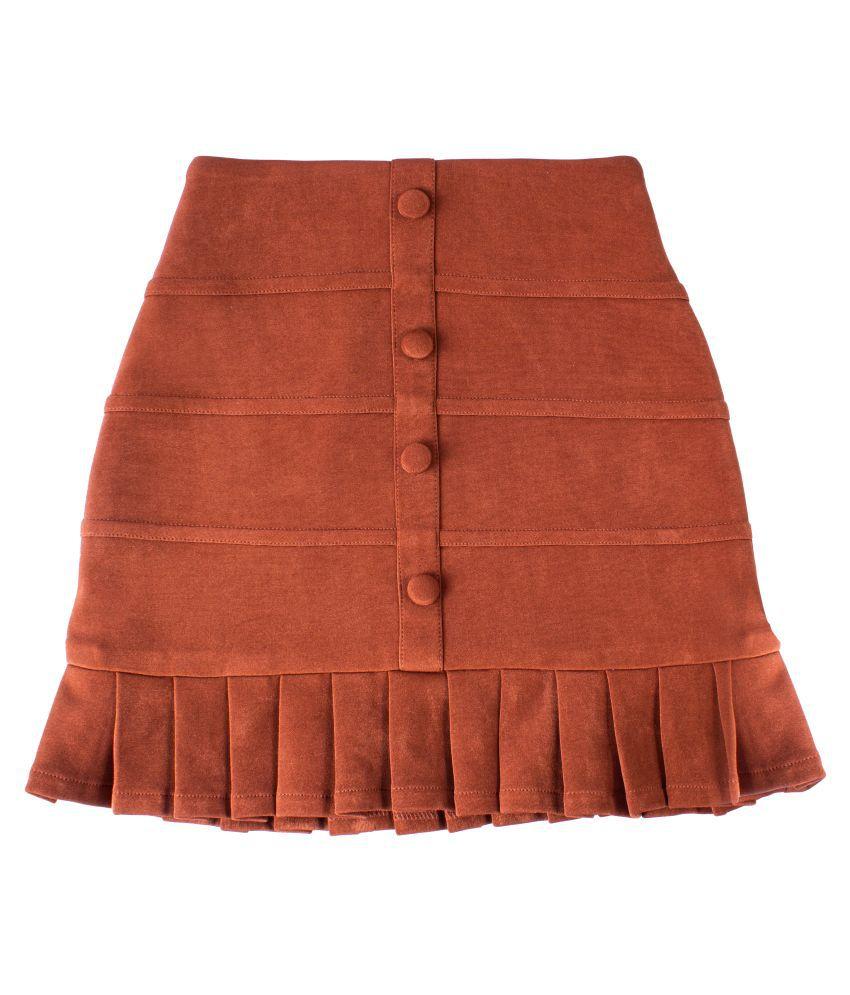 Hunny Bunny Kids Girls Brown Suede Short Skirt