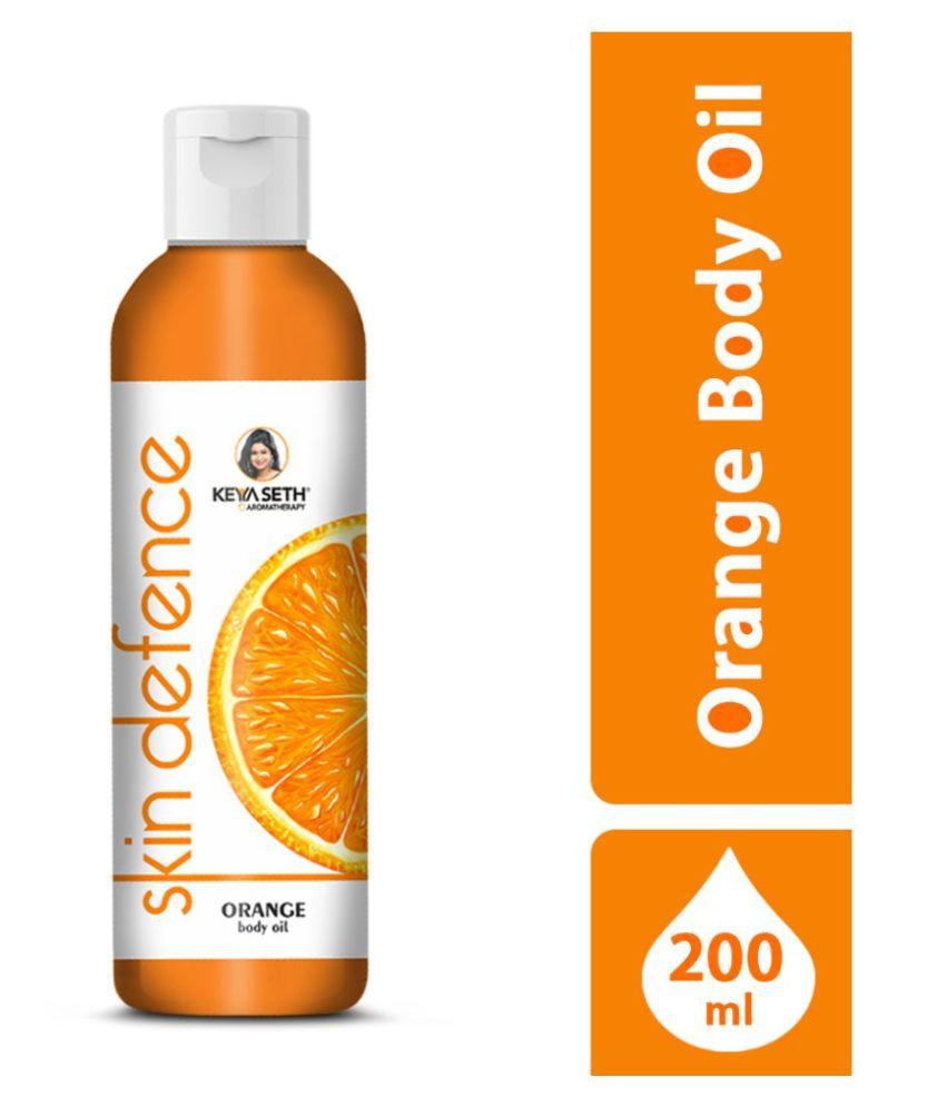 Keya Seth Aromatherapy Orange Body Oil 200ml Bath Kit Pack of 2