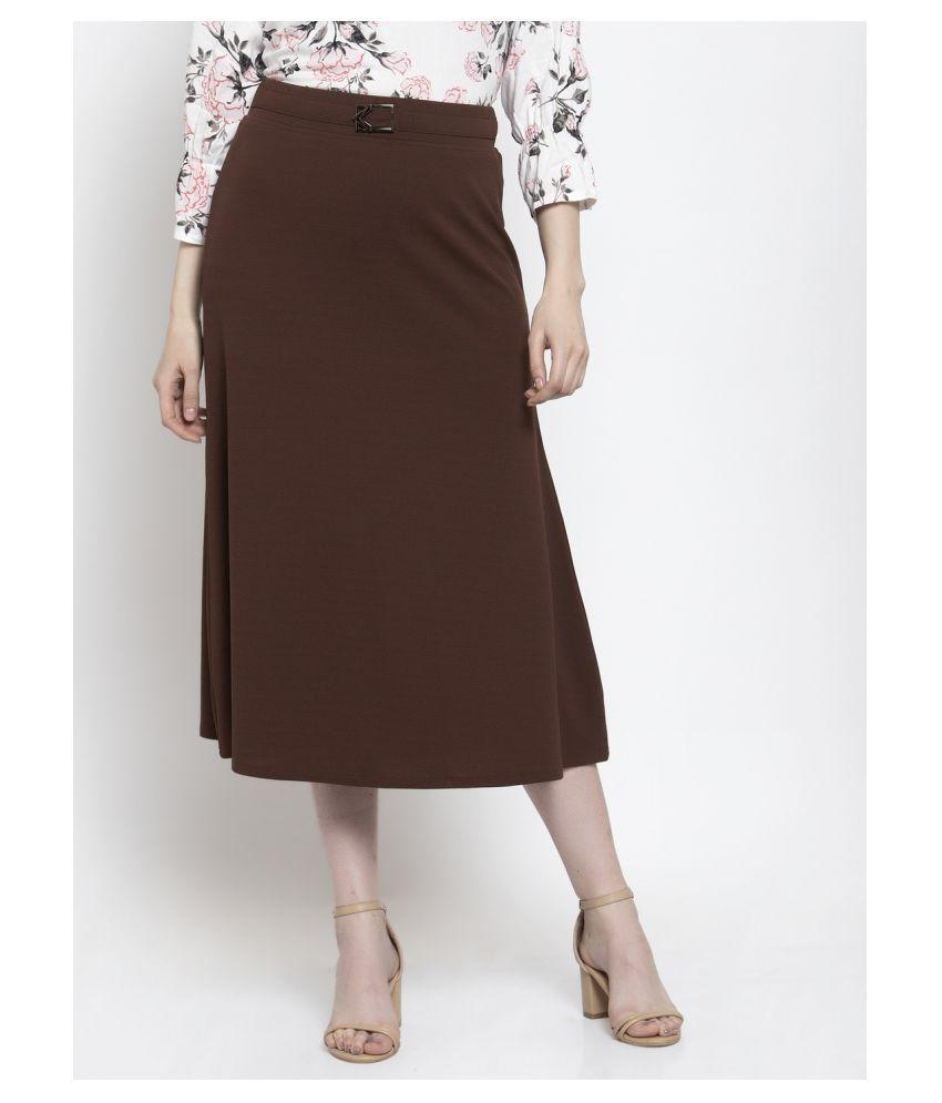 Westwood Cotton Skater Skirt - Brown
