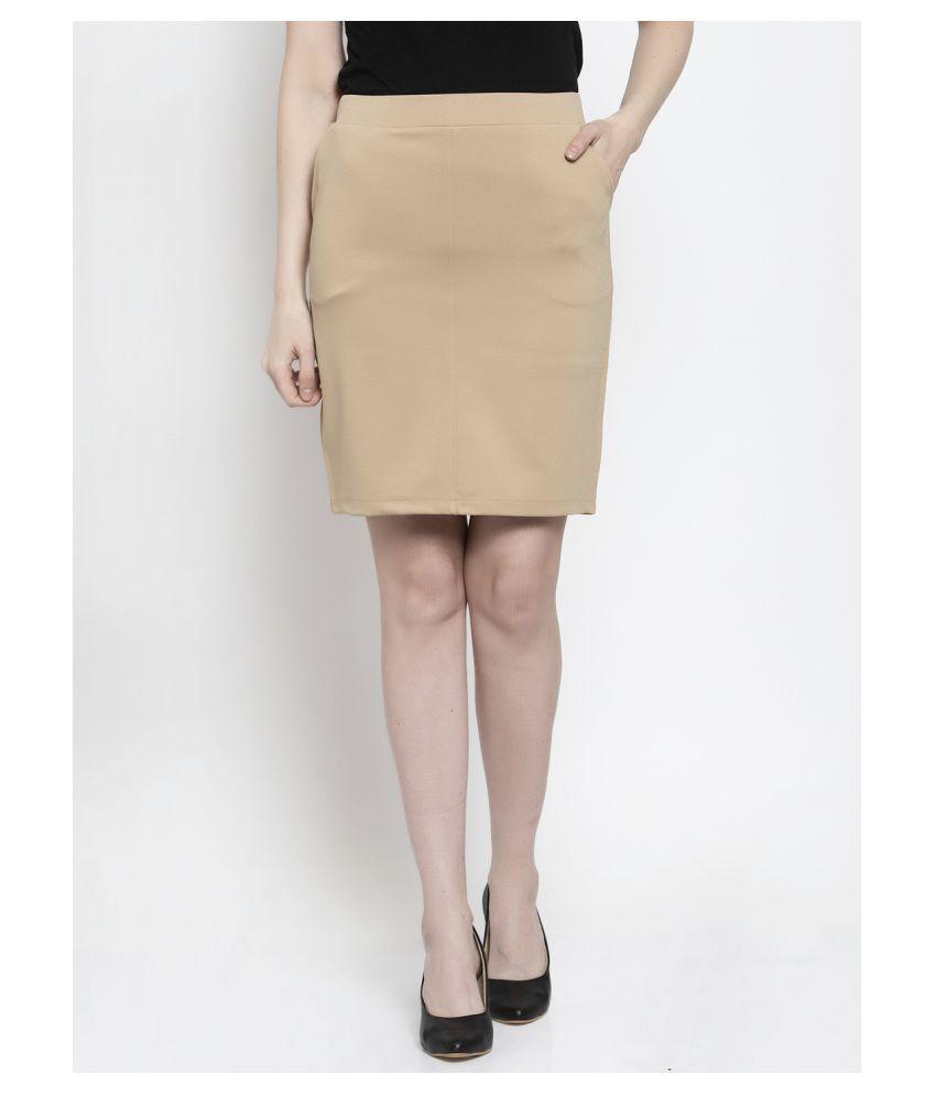 Westwood Cotton Straight Skirt - Beige