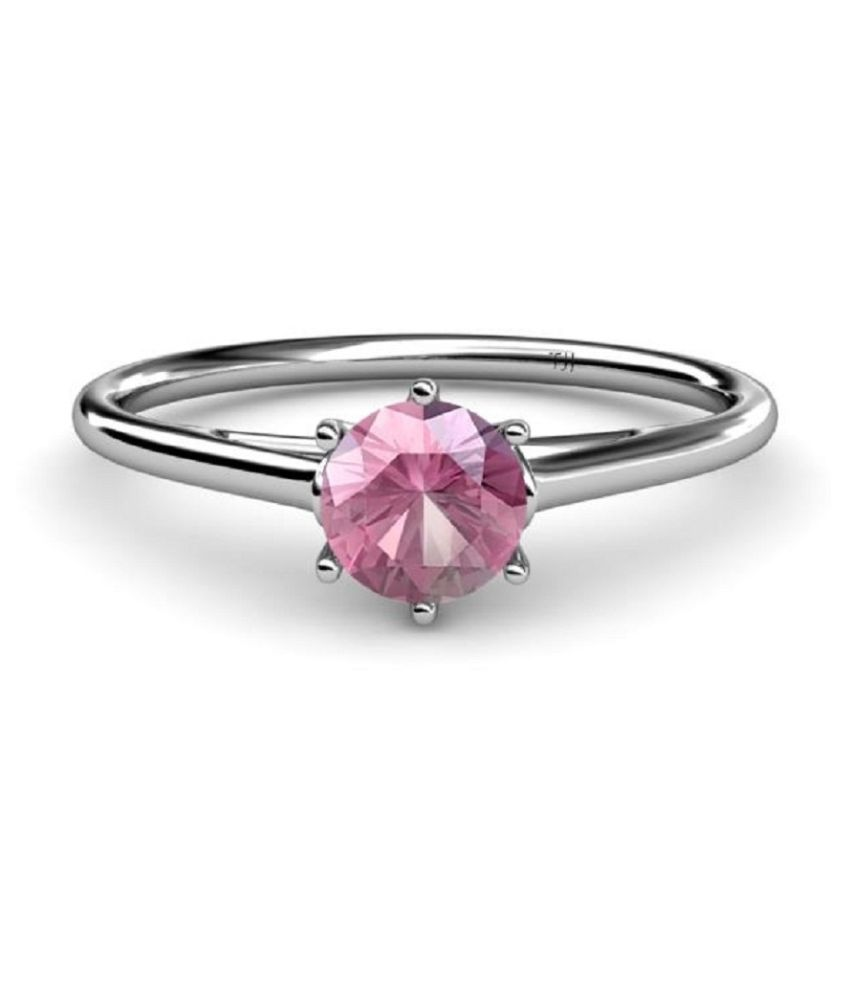 5.5 Carat Lab Certified Silver PINK SAPPHIRE RING(ANGUTHI)for unisex by KUNDLI GEMS