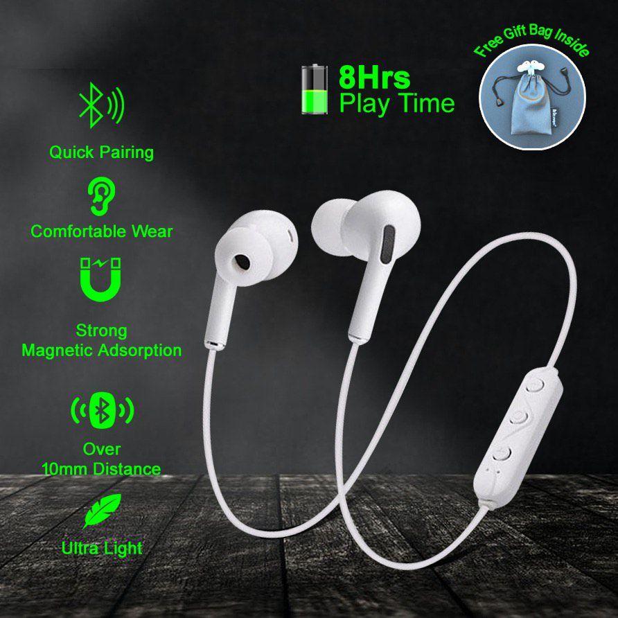 Hitage MBT 154 Bhavi Bluetooth For Redmi mobile Neckband Wireless With Mic Headphones/Earphones