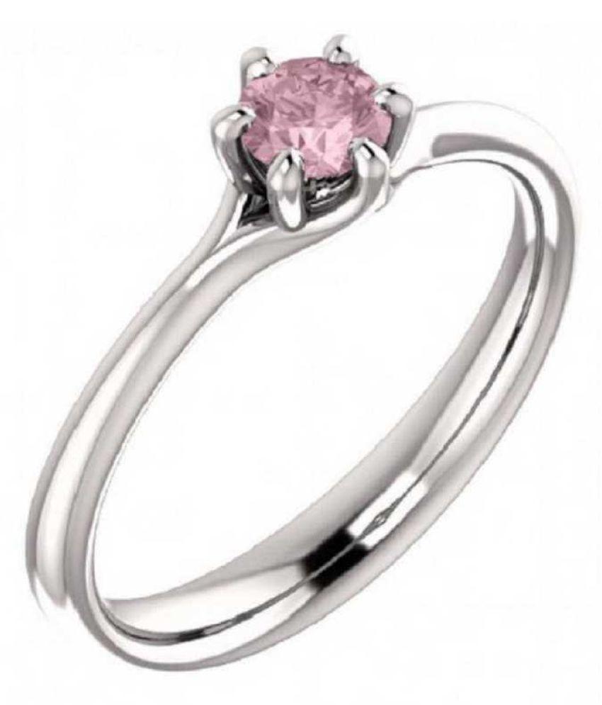 Natural PINK SAPPHIRE  6.5 Carat silver RING(ANGUTHI)  by KUNDLI GEMS\n