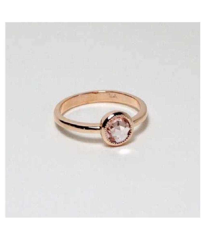 Natural PINK SAPPHIRE  6 Carat  GOLD PLATED   RING(ANGUTHI)  by KUNDLI GEMS\n