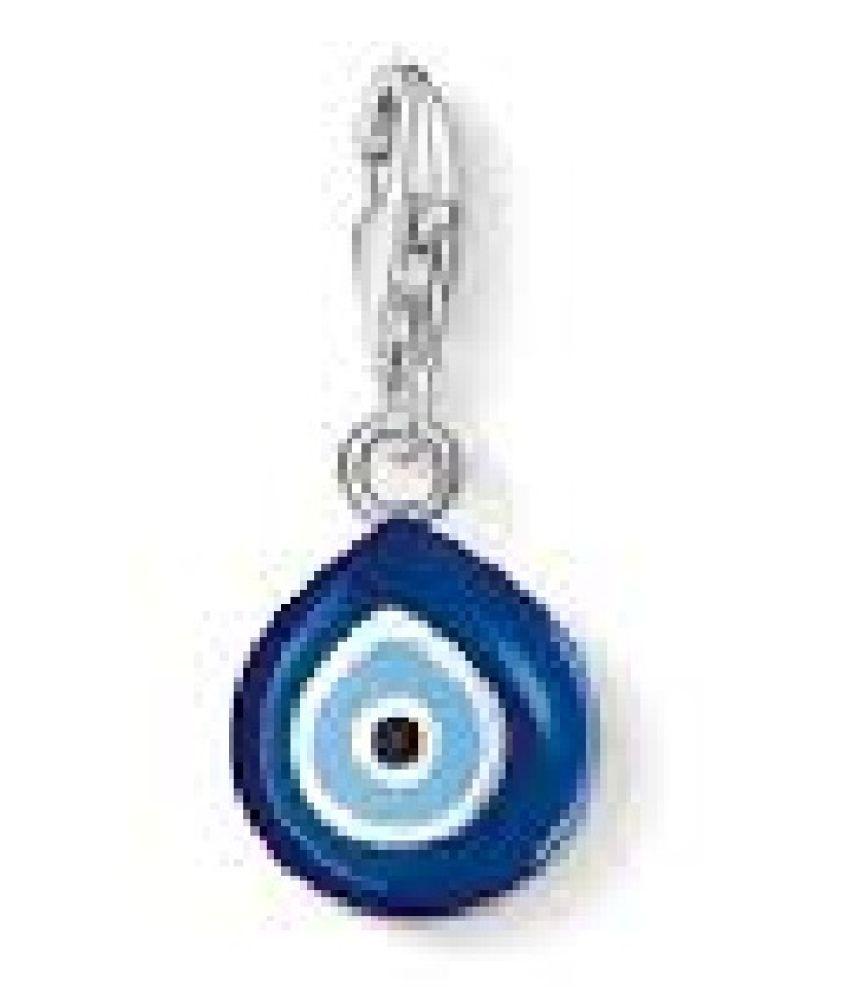 Silver Evil Eye Stone Pendant by  Kundli Gems