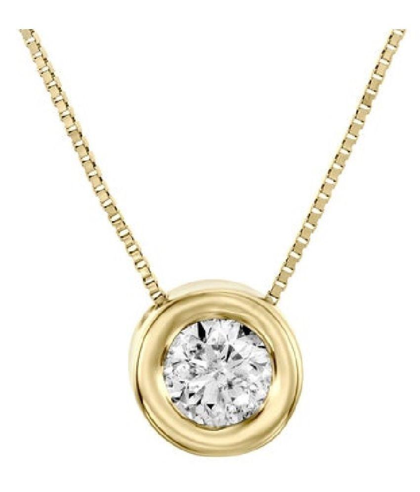 Gold Plated  6.25 Ratti Zircon  Pendant for unisex by  Ratan Bazaar\n