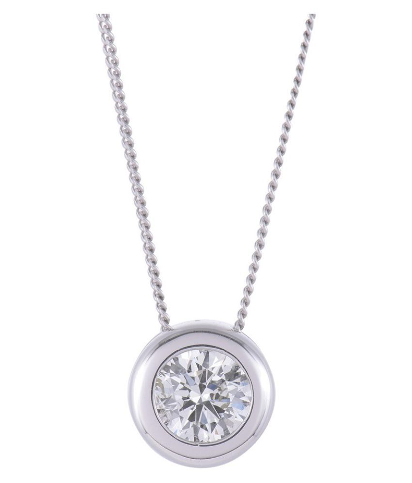 Natural 5 Ratti Zircon  Unheated Lab Certified pure Silver Pendant by Ratan Bazaar\n