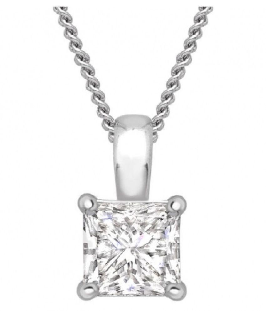 Silver  9.25 Ratti Zircon  Pendant by Ratan Bazaar\n