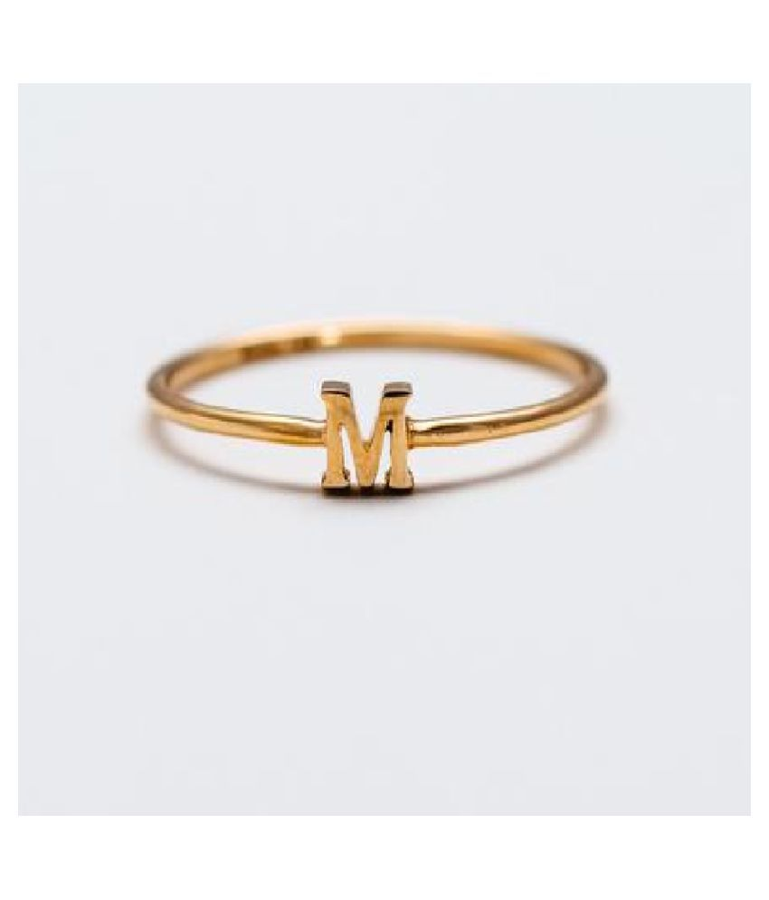 Alphabets Gold Plated Ring For Girls & Women by Ratan Bazaar