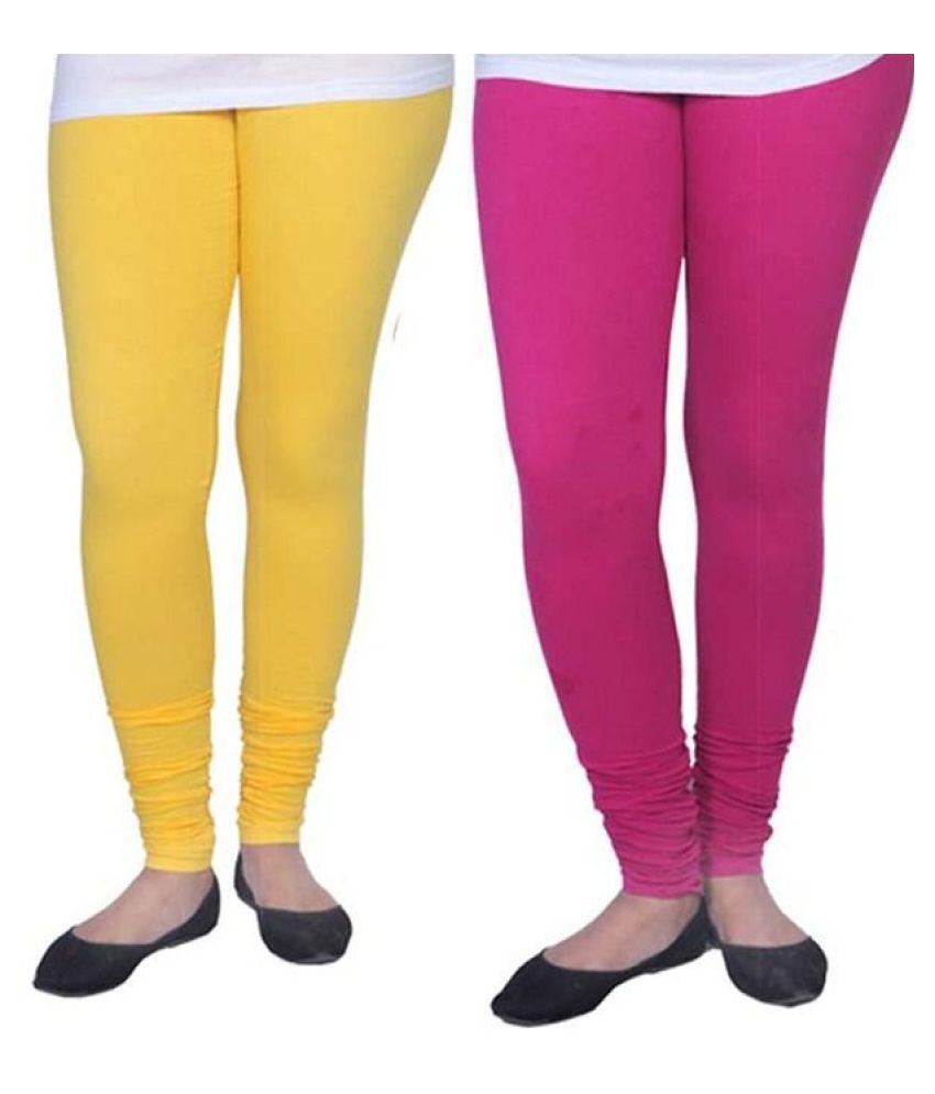 SK Creation Cotton Lycra Jeggings - Multi Color