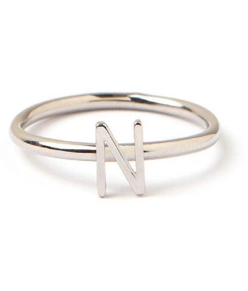 Stylish Alphabet gold plated Ring For girls and women by Ratan Bazaar