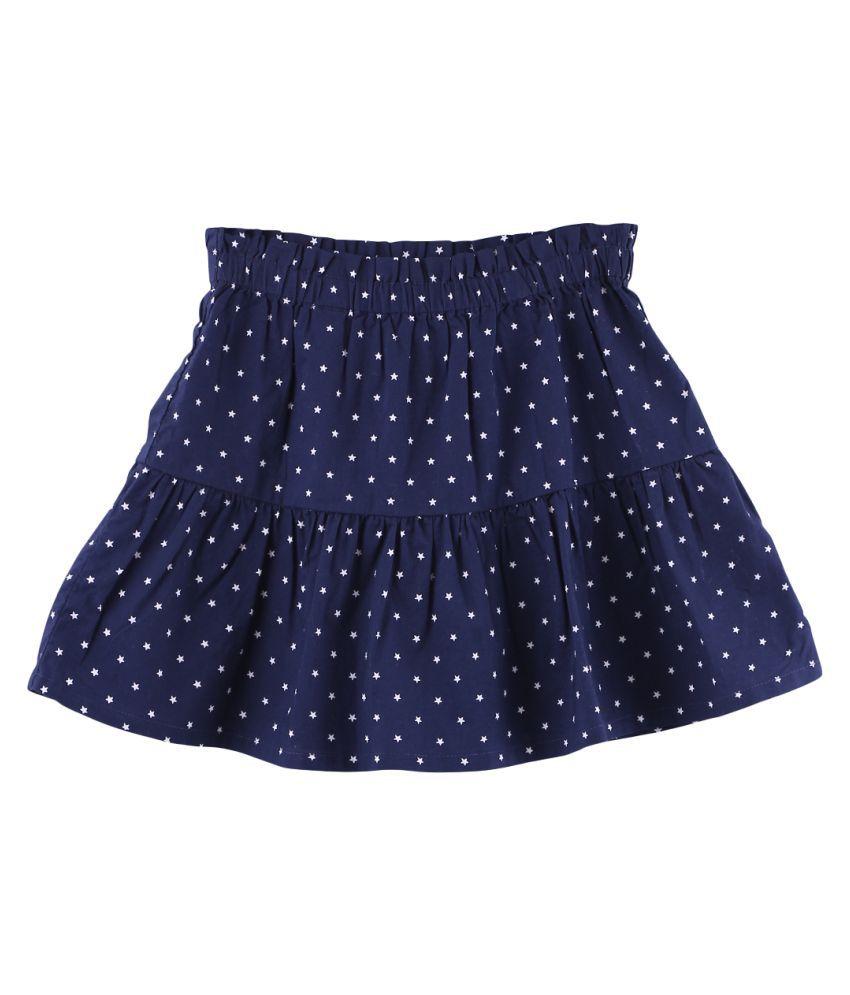 Star Print Paperbag Skirt