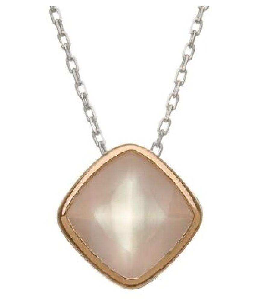 5.5 carat Natural Gold Plated Rose quartz Pendant by  Kundli Gems\n