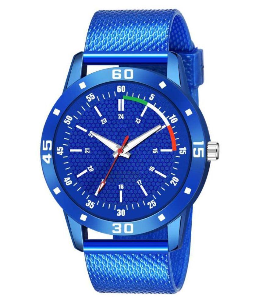 EMPERO Stylish Blue Watch Silicon Analog Men's Watch
