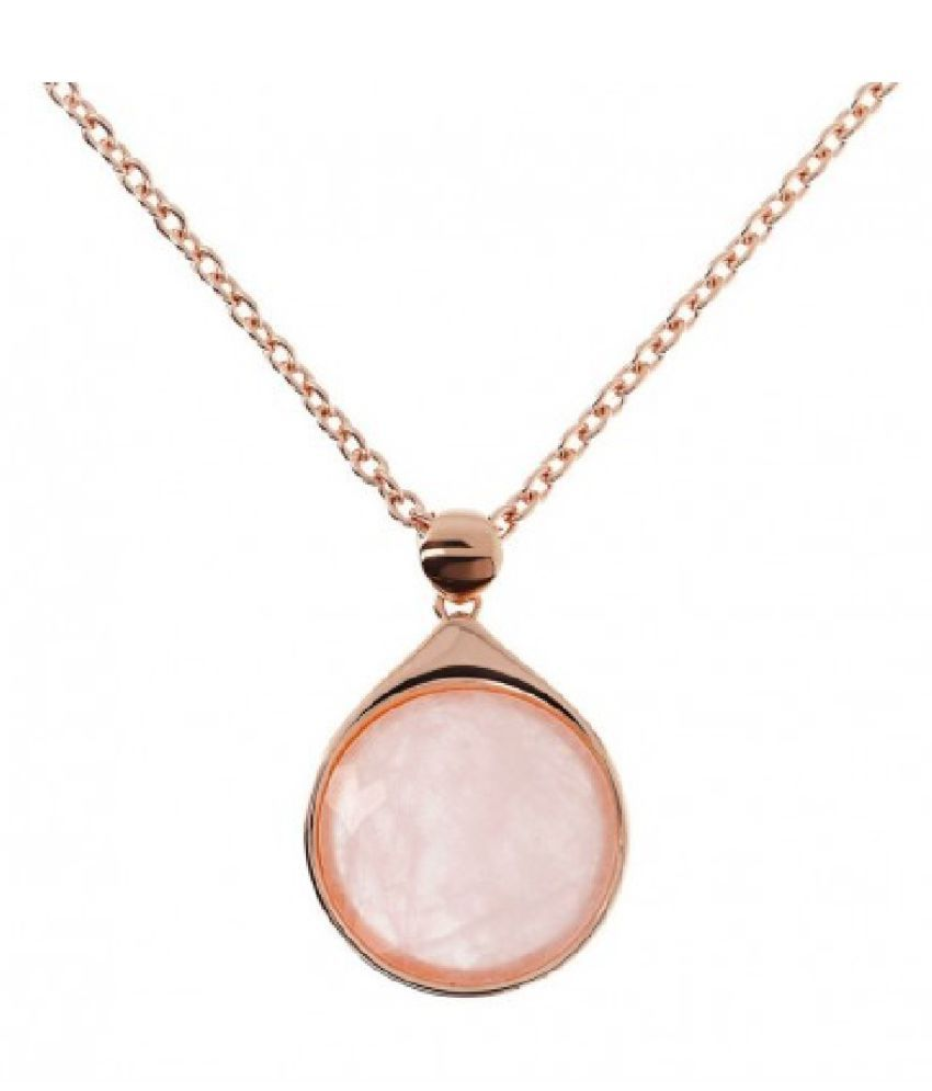 9.5 ratti natural Rose quartz Stone pure Gold Plated Pendant for unisex by Kundli Gems\n
