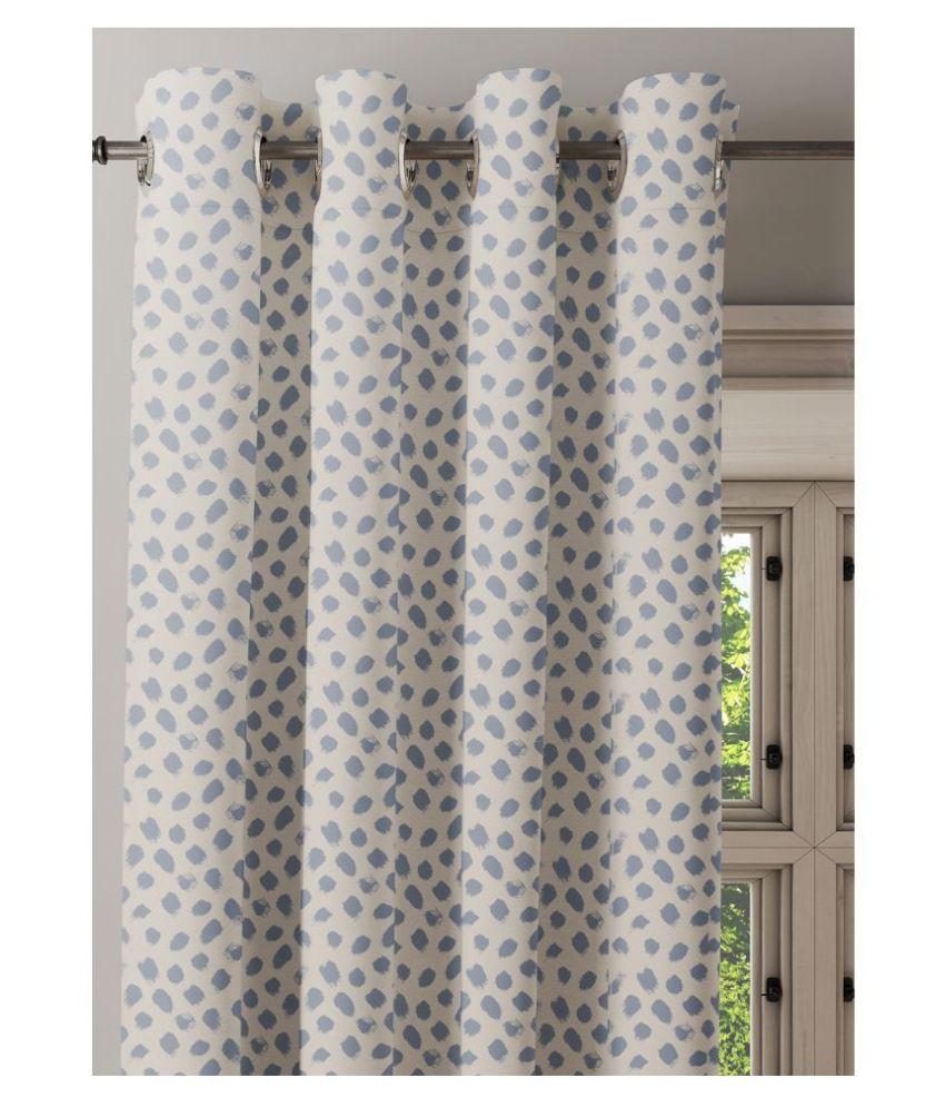 Ixora Decor Single Door Semi-Transparent Eyelet Cotton Curtains Beige