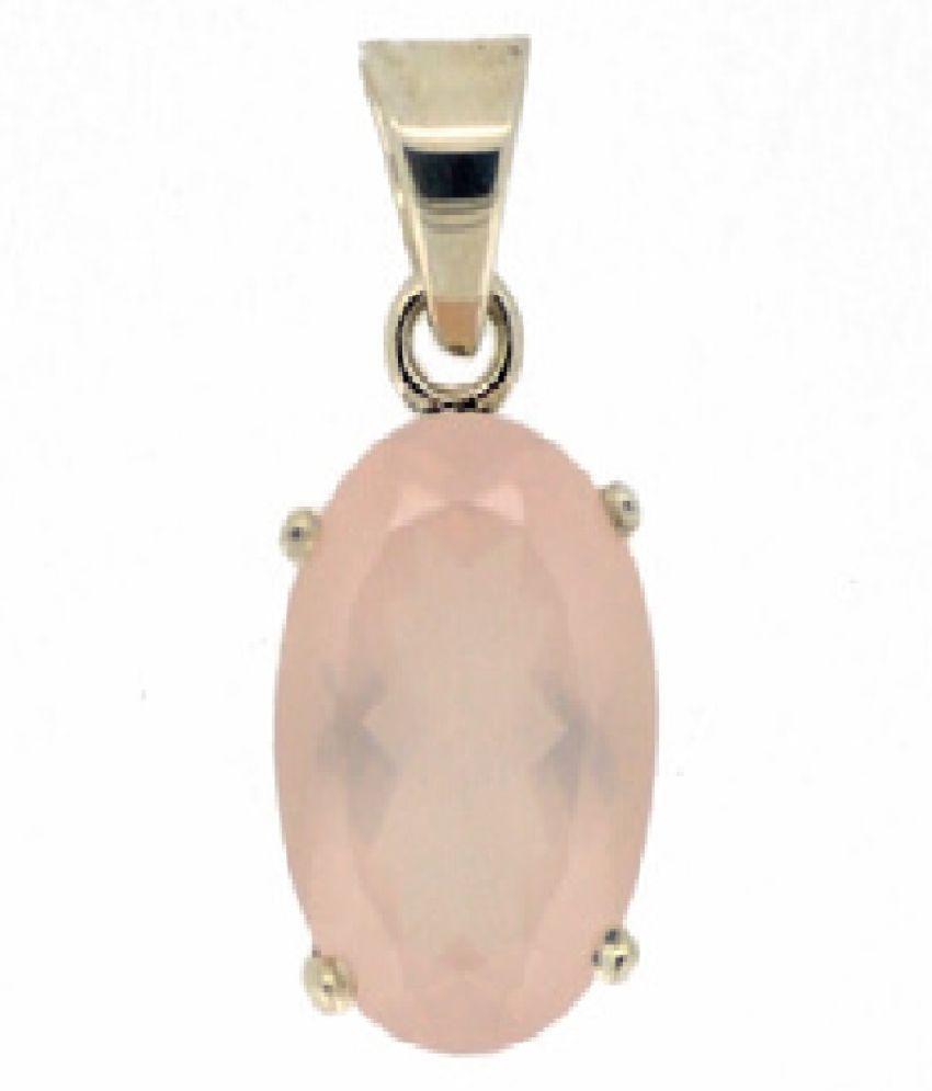 Natural Lab Certified 8.25 carat 100% Original Rose quartz Pendant for unisex by Kundli Gems\n