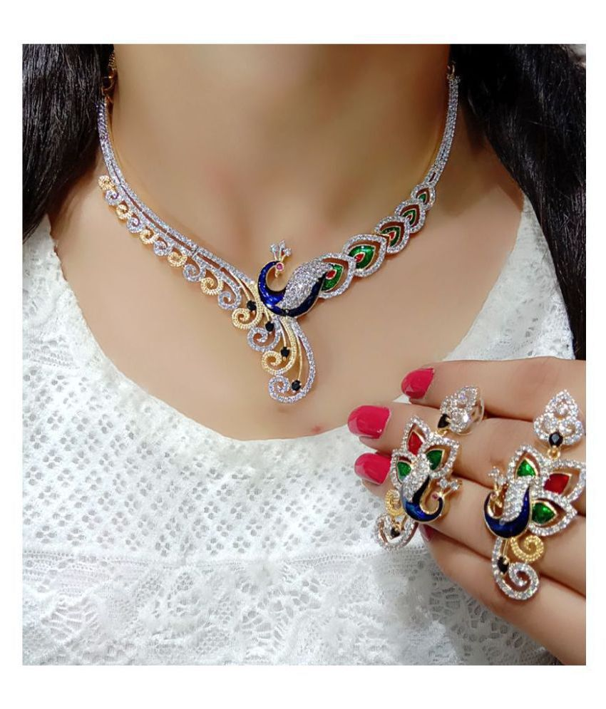 Navya Collectinos Alloy Multi Color Contemporary/Fashion Necklaces Set