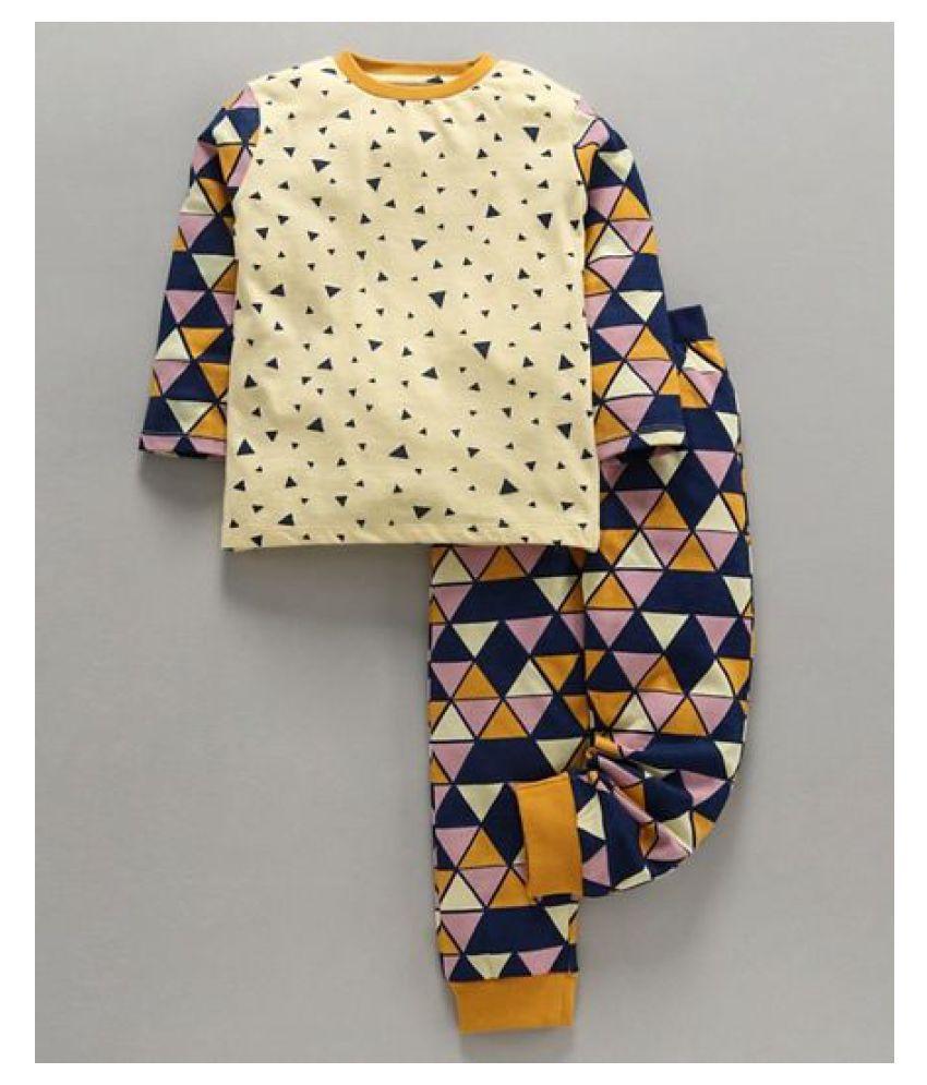 Ventra Triangle Nightwear-Mustard