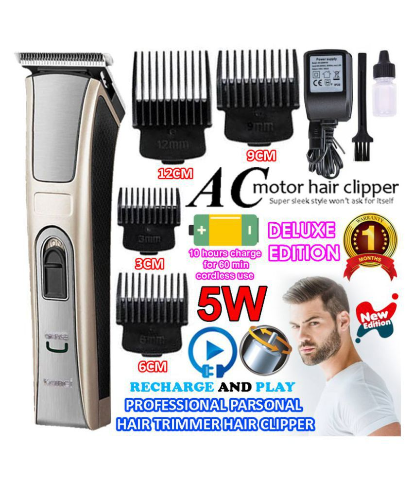 Men Rechargeable cordless Electric Hair Trimmer Quick Charge Bread Hair Clipper Casual Gift Set