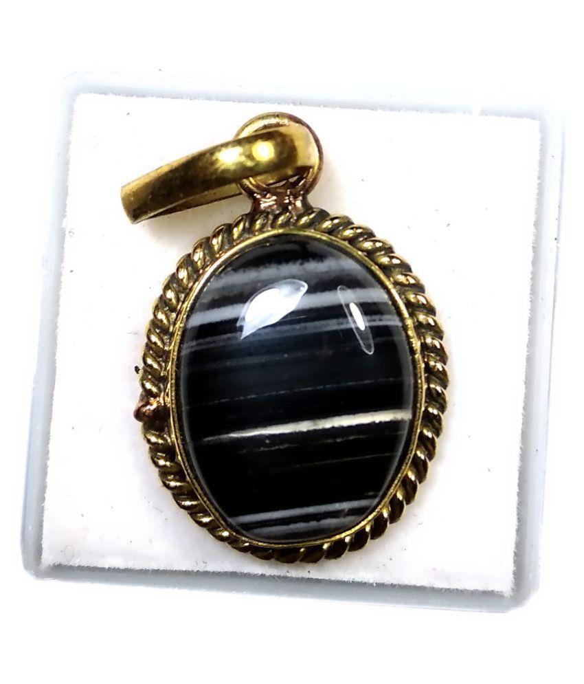 PRIYANSHU NAVARATN Certified Sulemani Locket 10.00-11.00 Ratti * 9.00-9.50 Carat Pack of 1 Natural Pandent * Pandle * Agate Sulemani Hakik Gold Plated Gemstone for Men Women