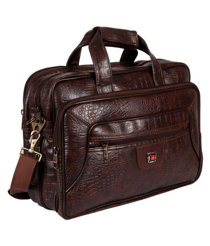 Da Tasche Brown Leather Office Bag