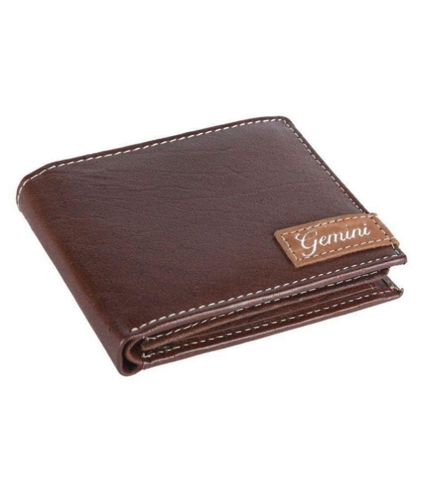 Gemini Leather Brown Fashion Regular Wallet