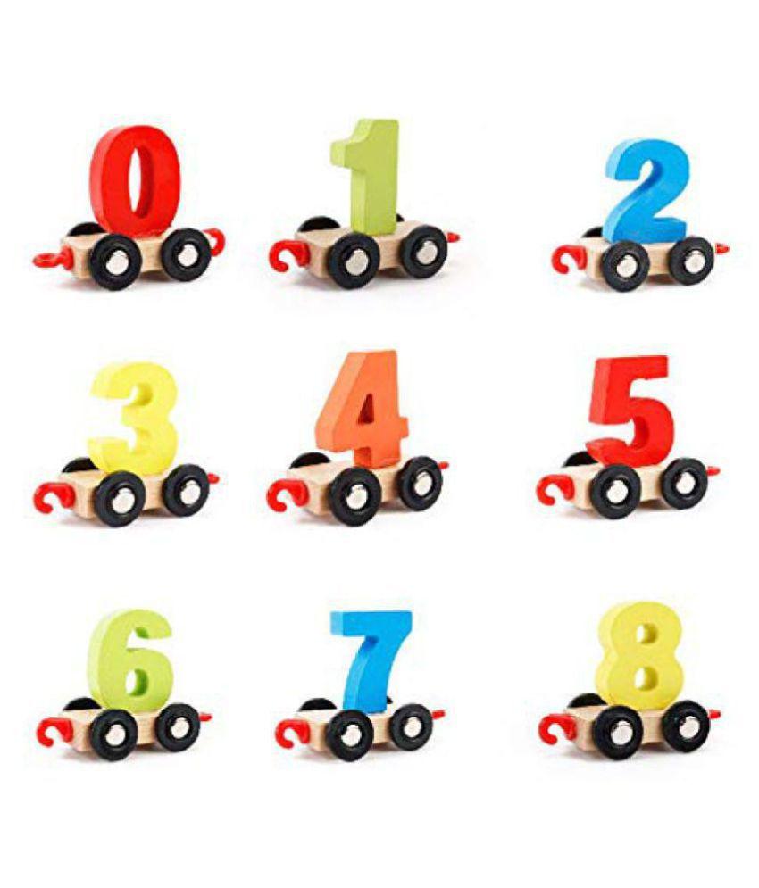KITI KITS® Early Educational Multi Function Wooden Toys  Train 1,2,3