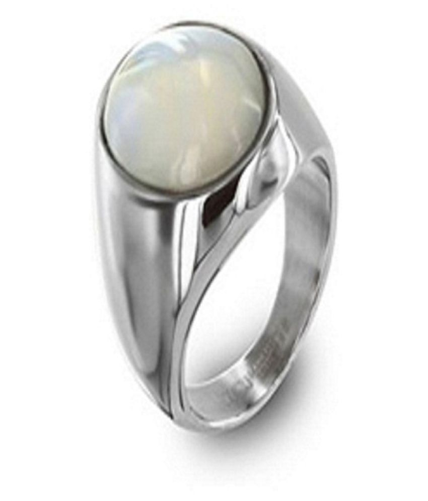 9.25 Carat Freshwater White Pearl Sterling Silver ring Natural South Sea Akoya Pearl Cocktail Ring Silver Plated Bridesmaid White Moti Adjustable Ring