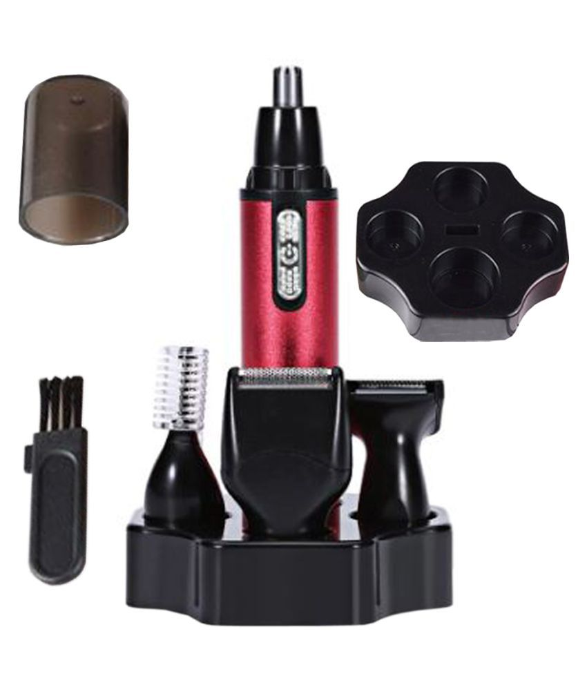 ING 4 in 1 Battery Ear Hair And Nose Trimmer Men nose ear care tools Casual Gift Set