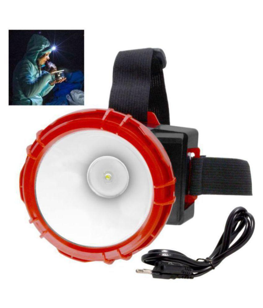 SJ Rechargeable Ultra Bright 1 Big Led Headlamp Headlight Head Lamp Torch Flashlight