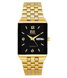 piper london pl-2101-gold-black Stainless Steel Analog Men's Watch
