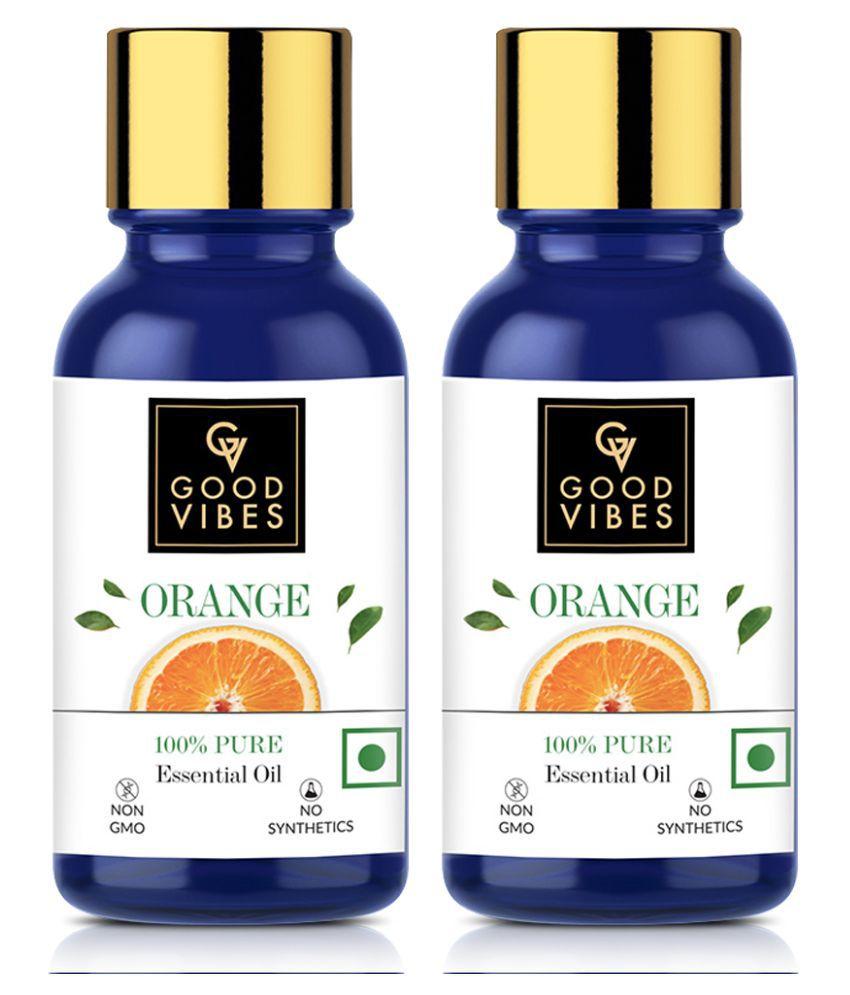 Good Vibes 100% Pure Orange Essential Oil(10 ml) - (Pack of 2)