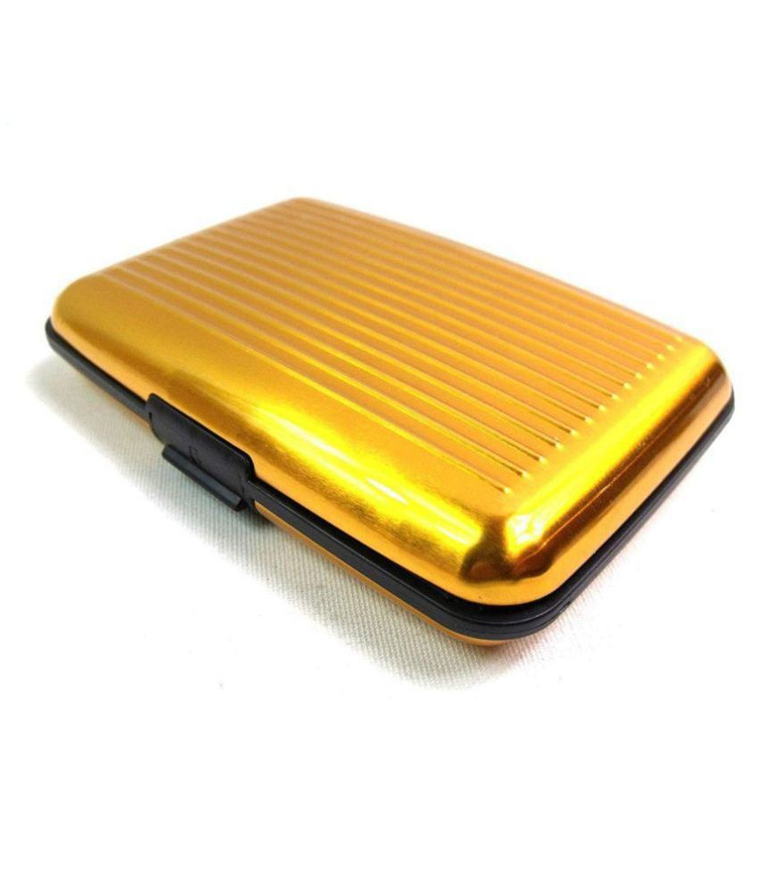 MAESTRA Metallic Yellow Casual Anti-theft Wallet