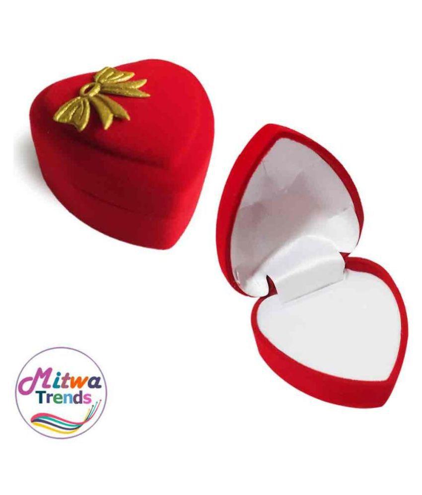 MITWA TRENDS Romantic Heart Ring Jewellery Vanity Box