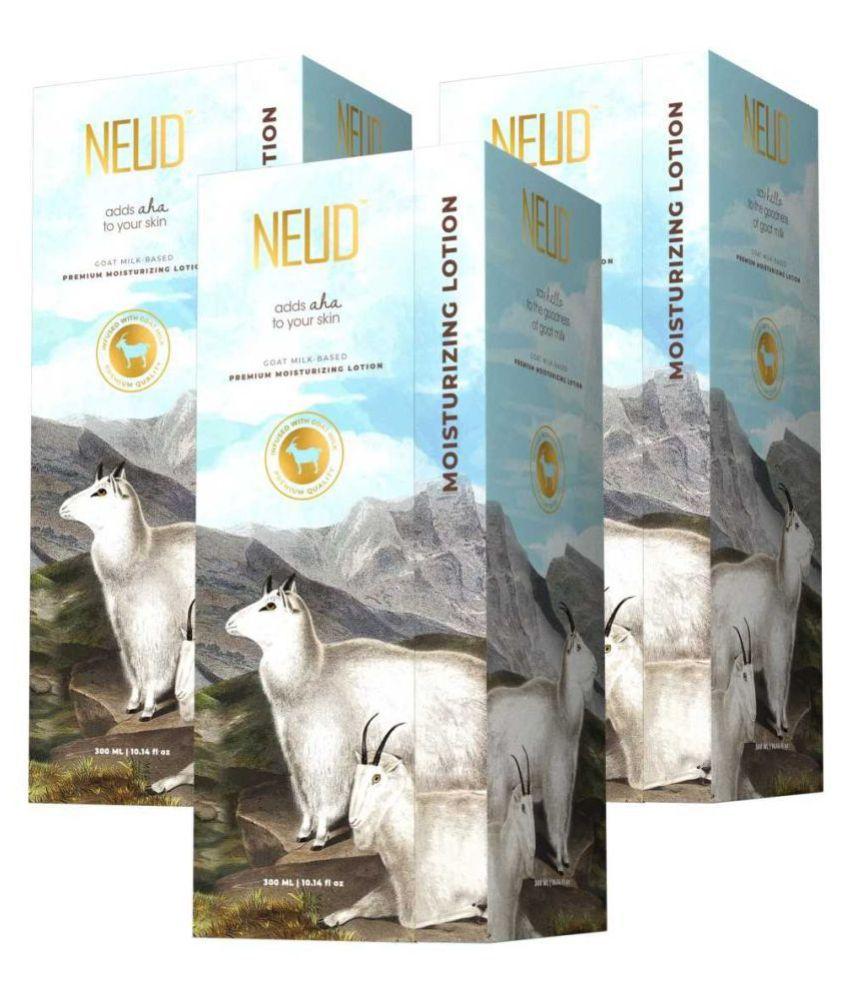 NEUD Goat Milk Premium Body Lotion ( 900 mL Pack of 3 )