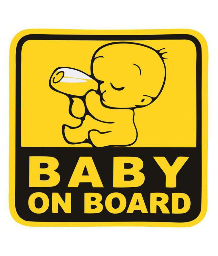 Asmi Collection Baby on Board In Car Sticker Multicolour