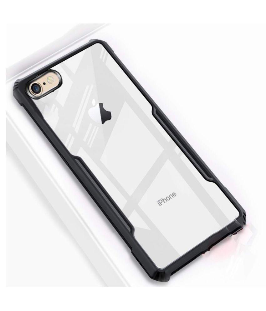 Apple iphone 7 Plus Shock Proof Case Maggzoo   Black Transparent Eagle Back Cover